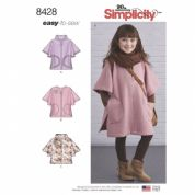 8428  Simplicity Pattern: Child's Poncho